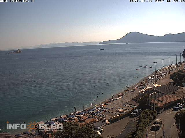 Webcam on the Le Ghiaie beach