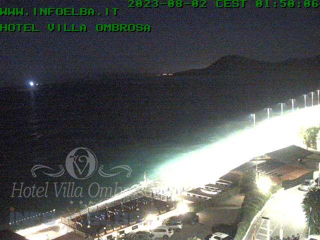Immagini dalla WebCam sulla spiaggia de Le Ghiaie a Portoferraio - isola d'Elba
